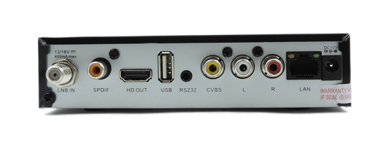 DSTV single HD decoder rear